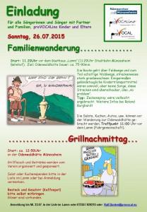 Einladung zum Familiengrillfest am 26.07.